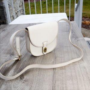 Fossil white crossbody shoulder purse